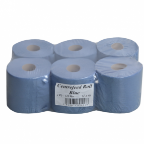 Paper Rolls - Centre Feed 2ply Blue