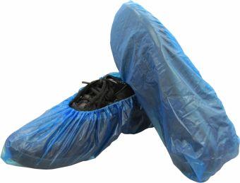 Shoe Covers Blue Vinyl