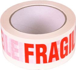 TAPE - FRAGILE (Box of 36)
